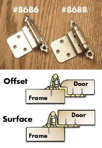 Semi-Concealed Cabinet Hinges