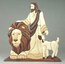 Jesus and Lion Intarsia Plan