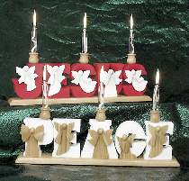 Jesus and Peace Angel Candles Plan