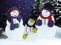 Frosty, Mrs. Snow & Snowflake Plans by Better Homes and Gardens WOOD