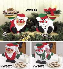 Santa/Snowman Plate Holder and Cookie Jar Plans
