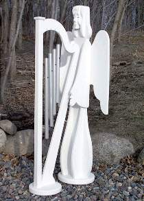 Angel With Harp Wind Chime Plan