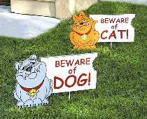 Beware of Cat Dog Signs Plan