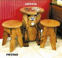 Beaver Game Table & Stools Plans