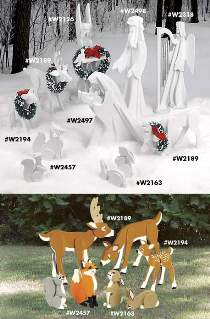 Yard Size Woodland Nativity Plans