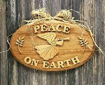 Peace on Earth Angel Plaque Plan