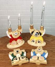 Animal Angel Candle Holders Plan