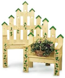 1x4 Picket Bench and Planter Plan