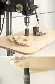 Drill Press Sanding Table Plan