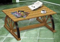 Wagon Wheel Coffee Table Plan by Sherwood Creations
