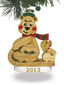 Christmas Bear Ornament 2013 Plan