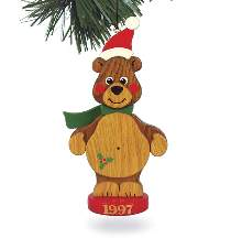 Christmas Bear Ornament 1997 Plan