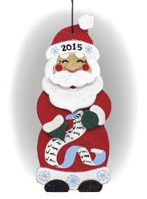 Santa Collector Ornament 2015 Plan & Wood