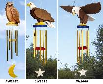 Mid-Size Owl and Eagle Wind Chime Special Offers