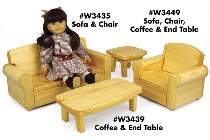 Doll Sofa/Chair & Tables Plan Set Special