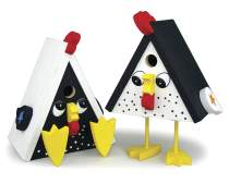 Cheerful Chicken Birdhouses Plan
